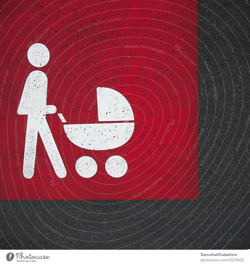 Pictogram of a person with a pram on the street Mother Baby carriage Family & Relations Child Mother with child Parent with child Parents Human being Pedestrian