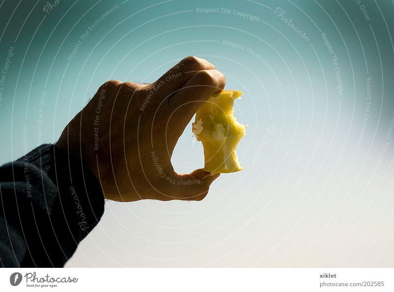 apple Man Blue Hand Green Sun Ocean Beach Food Sand Coast Eating Healthy Waves Fruit Arm Fingers