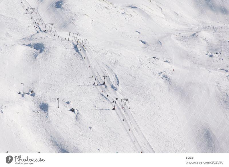 White Winter Landscape Mountain Cold Snow Beautiful weather Elements Alps Simple Tracks Switzerland Snowscape Slope Winter sports Ski resort