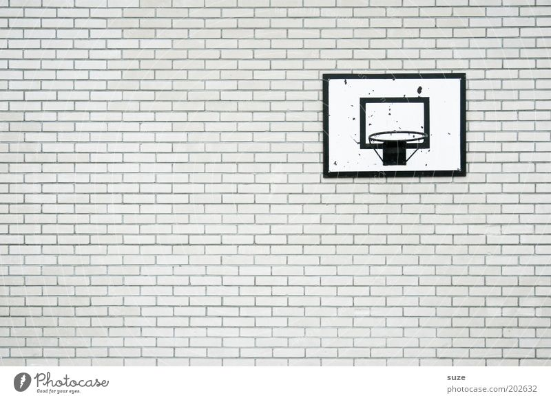 White Wall (building) Sports Wall (barrier) Gray Style Stone Leisure and hobbies Facade Gloomy Design Simple School building Dry Brick Trashy