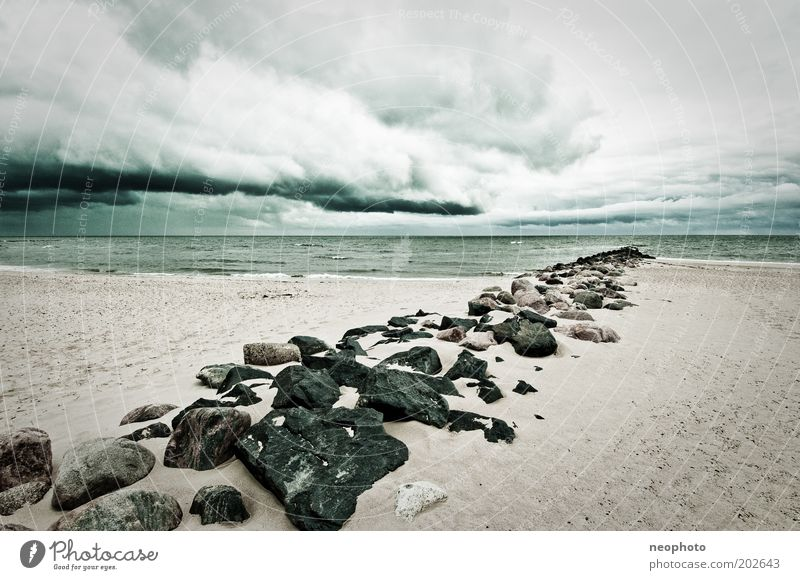 Old Green Beach Ocean Loneliness Cold Gray Sand Stone Coast Air Waves Wind Horizon Grief Authentic