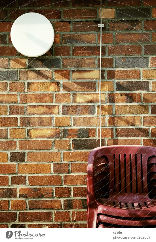 White Red Lamp Wall (building) Garden Stone Wall (barrier) Brown Facade Lifestyle Hope Arrangement Esthetic Stand Chair Living or residing