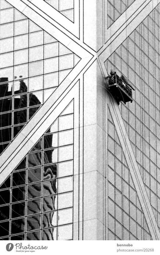 Architecture China Hongkong Window cleaner Bank of China Tower