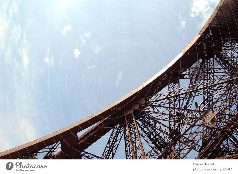 La Tour Eiffel a froid aux pieds... Paris Tower Manmade structures Eiffel Tower Blue Happy Joie de vivre (Vitality) Spring fever Freedom Vacation & Travel