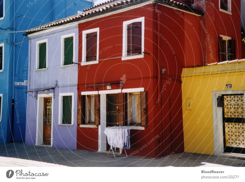 Colourful front Venice House (Residential Structure) Housefront Multicoloured Italy Village Architecture