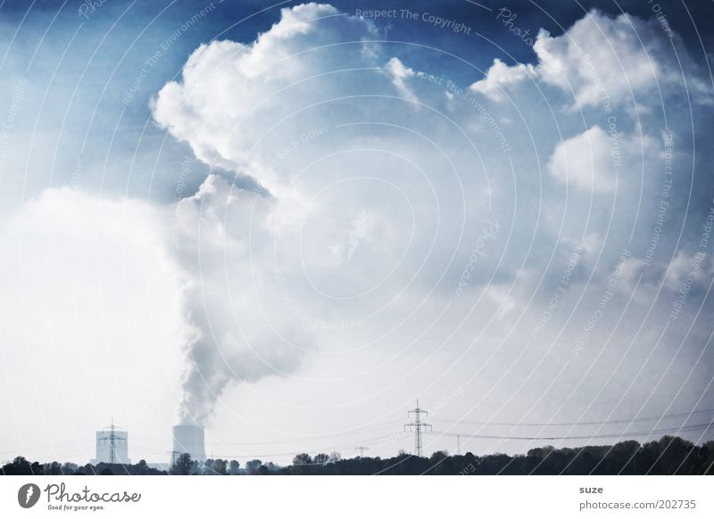 Thick air Factory Economy Industry Energy industry Renewable energy Nuclear Power Plant Coal power station Energy crisis Environment Clouds Climate