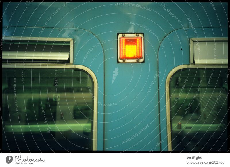 Vacation & Travel Window Lighting Wait Transport Railroad Retro Stop Passenger traffic Commuter trains Signal Means of transport Passenger train Warning light
