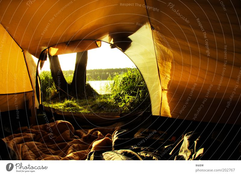 Nature Sun Vacation & Travel Yellow Lake Trip Adventure Authentic Leisure and hobbies Camping Cozy Sunrise Tent Sunset Morning