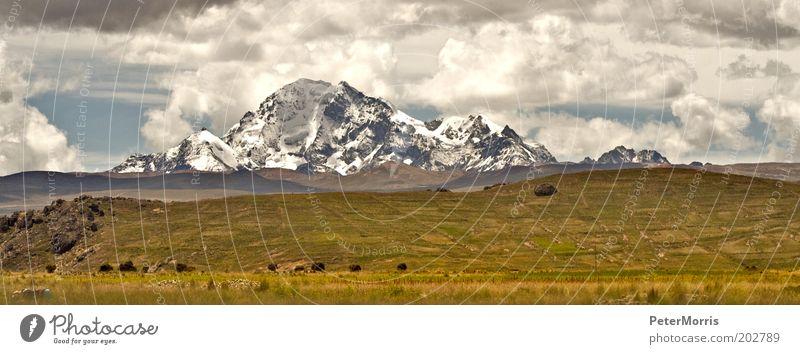 Cordillera Altiplano Nature Landscape Earth Air Sky Clouds Weather Storm Wind Mountain Peak Snowcapped peak Vacation & Travel Bolivia cordillera real altiplano