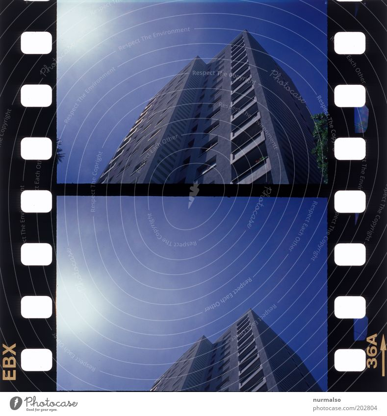 Sky City Summer Loneliness Life Window Art High-rise Horizon Facade Film Retro Gloomy Simple Uniqueness Balcony