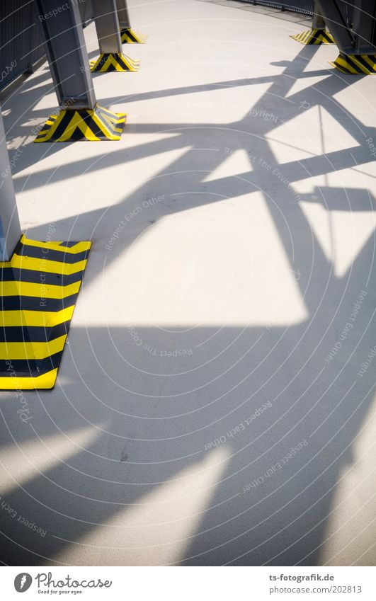 Black Yellow Colour Gray Line Concrete Tower Stripe Exceptional Steel Chaos Platform Shadow play Synthesis Reticular