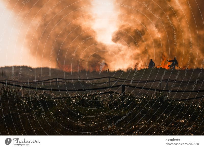 Dark Blaze Fire Dangerous Threat Smoke Disaster Fight Fireman Fire department Erase Profession