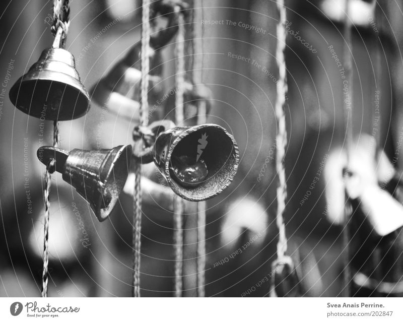 past days. Toys Metal String Hang Bell Wind chime Blur Black & white photo Deserted Glockenspiel Day