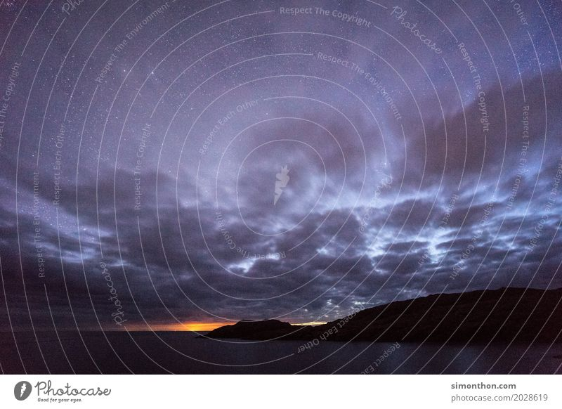 clouds Environment Nature Landscape Air Water Clouds Night sky Stars Horizon Sunrise Sunset Sunlight Storm Wind Coast Bay Fjord Ocean Island Lake Dark Scotland
