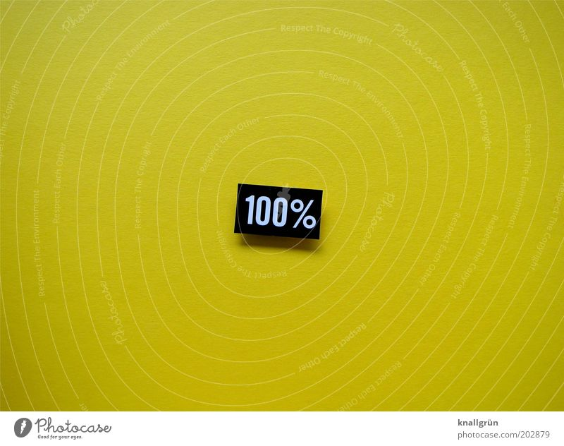 100% Sign Characters Digits and numbers Percent sign Dependability Conscientiously Accuracy Precision Pure hundred percent Colour photo Studio shot Close-up