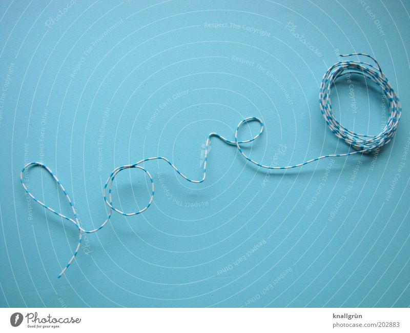 White Blue Love Emotions Communicate Characters Word Wire Infatuation Striped