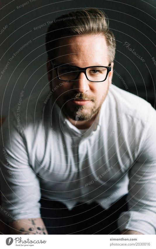 portrait Professional training Apprentice Internship Academic studies Study University & College student Masculine 1 Human being Tattoo Eyeglasses