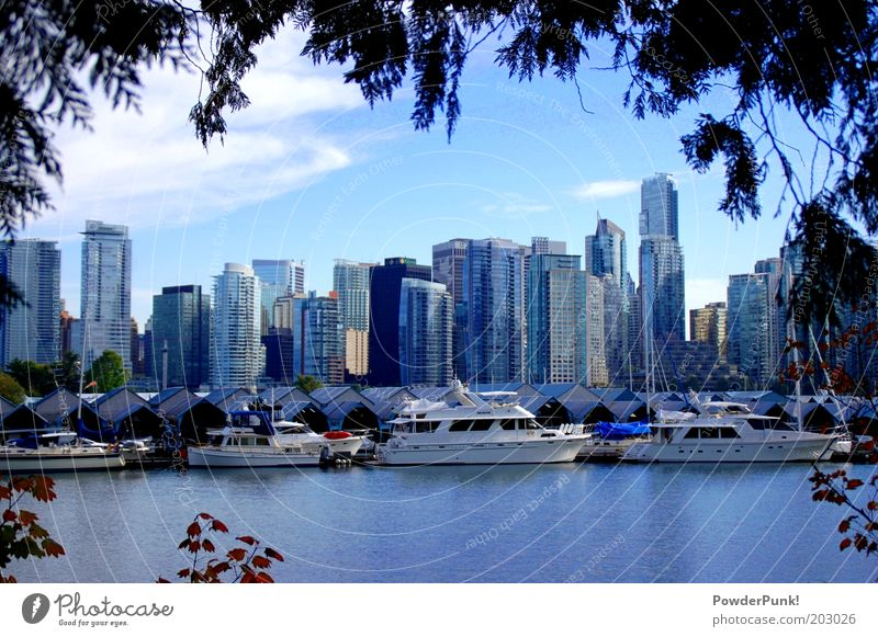 Water City Summer Coast Architecture Environment High-rise Harbour Luxury Skyline Bay Canada Beautiful weather Americas