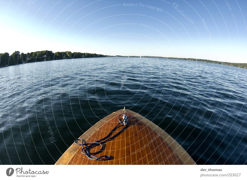 Nature Water Sky Green Blue Summer Calm Far-off places Movement Lake Warmth Watercraft Brown Wet Horizon Driving