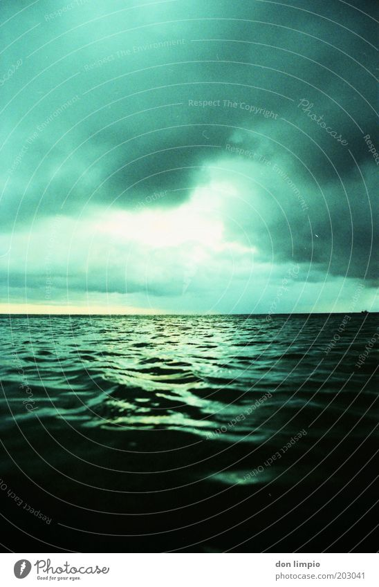 Water Sky Ocean Green Clouds Moody Waves Weather Environment Horizon Future End Climate Infinity Environmental protection