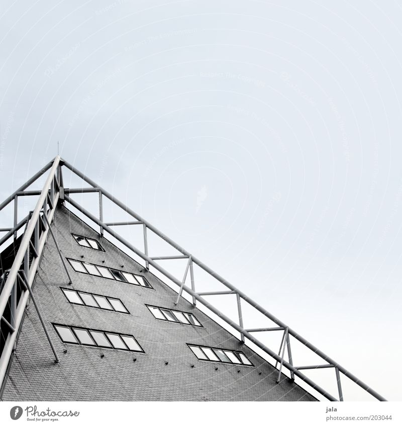 Sky House (Residential Structure) Window Gray Building Architecture Facade Esthetic Roof Point Manmade structures Steel construction Modern architecture