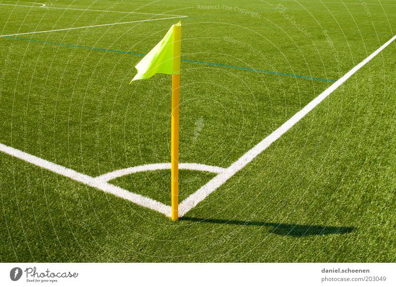 White Green Yellow Sports Line Soccer Corner Flag Grass surface Stadium Football pitch Light Sporting Complex Marker line