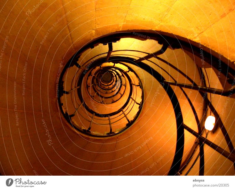 staircase Paris France Stairs Winding staircase Black Artificial light Spiral Light Vacation & Travel Success Yellow Architecture arc de triump Arc de Triomphe