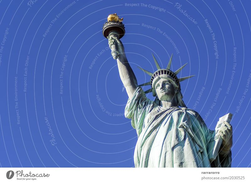 The Statue of Liberty in New York City USA Vacation & Travel Tourism Freedom Island Culture Landscape Sky Clouds River Building Architecture Monument Old