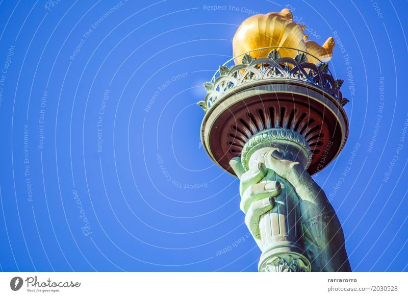 Torch of the Statue of Liberty Vacation & Travel Tourism Freedom Island Hand Culture Sky Places Architecture Monument Old Historic New Green Independence