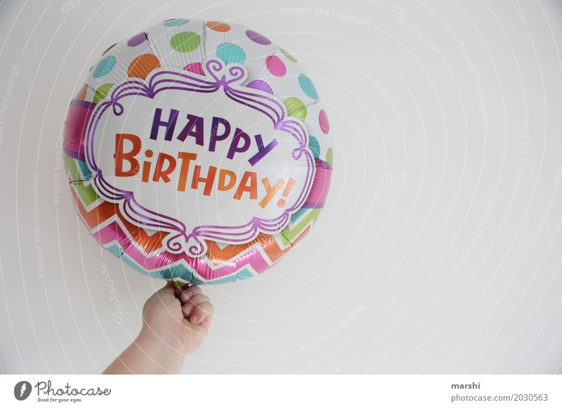 Happy Birthday Leisure and hobbies Sign Emotions Moody Joy Happiness Joie de vivre (Vitality) Hot Air Balloon Congratulations Card Salutation Birthday gift