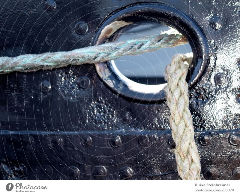 Sun Black Watercraft Rope Safety String Hollow Navigation Varnish Thread Rivet Railing Things Attach Plaited Hawser