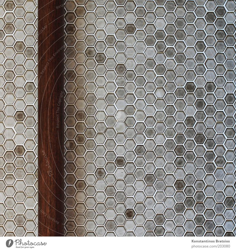 SEE TEST PICTURE Rod Wood Simple Firm Brown Gray Design Symmetry Living or residing Tile Honeycomb pattern Vertical Old fashioned Bathroom Joist Geometry