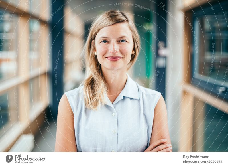 young blonde businesswoman already Education University & College student Work and employment Office work Services Media industry Advertising Industry Business