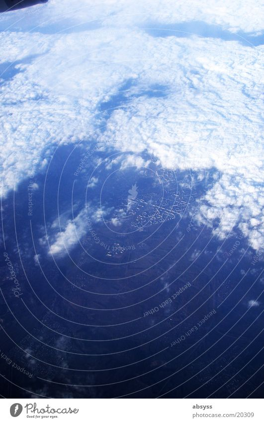 Sky White Blue Vacation & Travel Clouds Above Airplane Flying Earth Aviation River Russia Newa