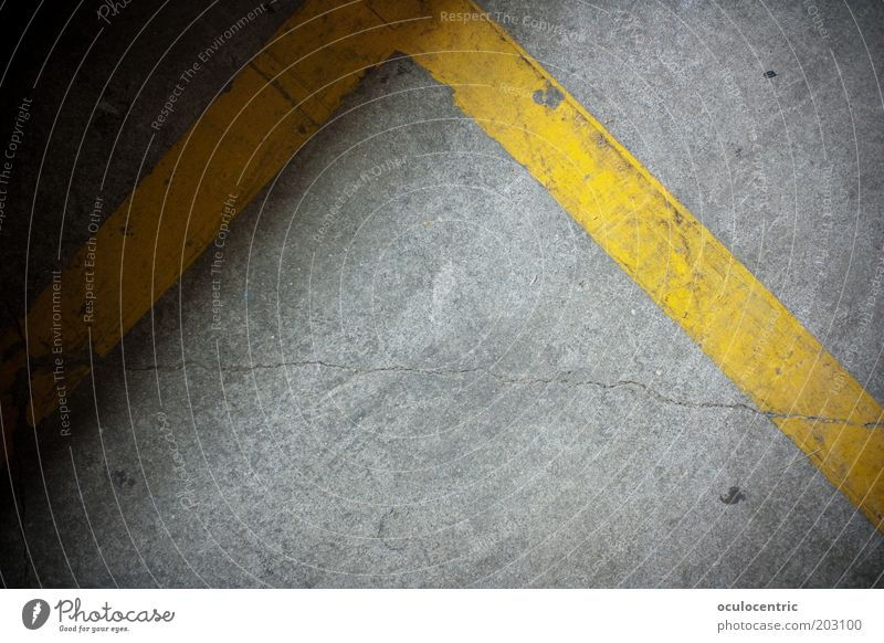 Yellow Gray Line Corner Ground Construction site Asphalt Crack & Rip & Tear Bans Divide Level Boundary Marker line Dividing line