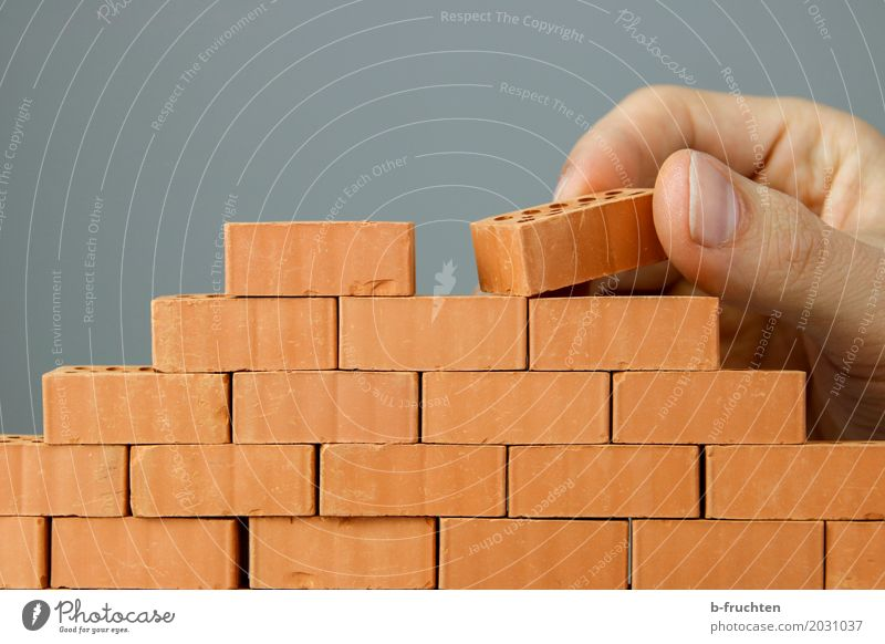 Wall construction II Dream house House building Redecorate Work and employment Craftsperson Construction site Craft (trade) Stone Brick Build Perspective