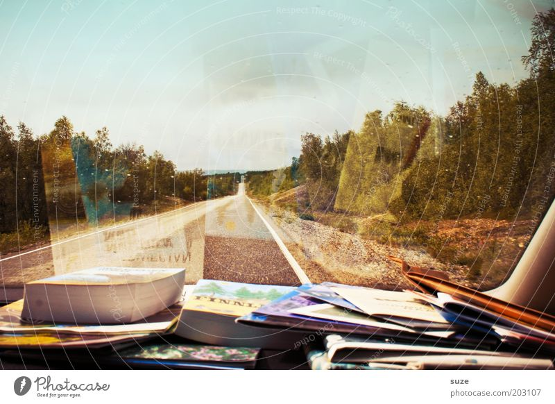on the way Vacation & Travel Trip Adventure Expedition Summer vacation Print media Newspaper Magazine Book Environment Nature Landscape Motoring Street
