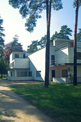 Bauhaus Master House Dessau Style House (Residential Structure) Forest Building Architecture Facade Monument Meisterhäuser bauhaus school Twenties Germany Pine
