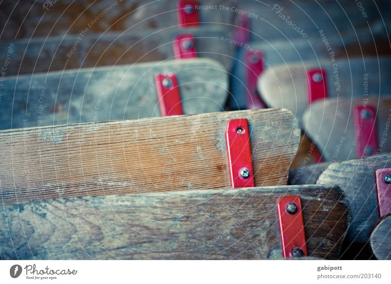 Old Red Wood Line Brown Metal Closed Stand Chair Transience Decline Past Wood grain Weathered Beer garden Furniture