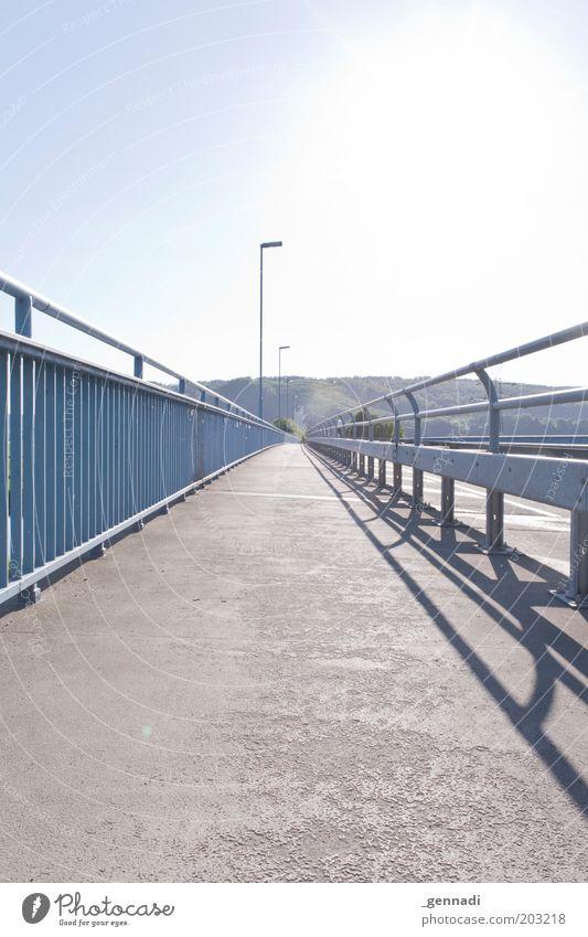 Sky Sun Summer Landscape Bridge Hot Lantern Bridge railing Sky blue Lamp post Lanes & trails Cycle path Blooming Holzminden