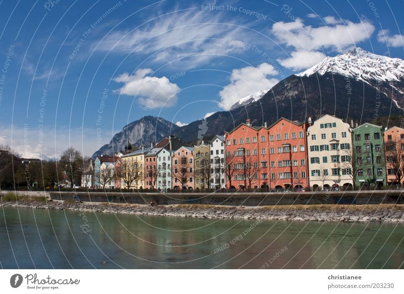 Frühling in Innsbruck Austria Europe Town Capital city House (Residential Structure) Tourist Attraction Beautiful Uniqueness Kitsch Warmth Multicoloured