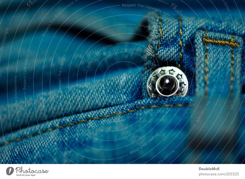 Blue Glittering Clothing Round Point Jeans Pants Denim Silver Macro (Extreme close-up) Rivet Stud