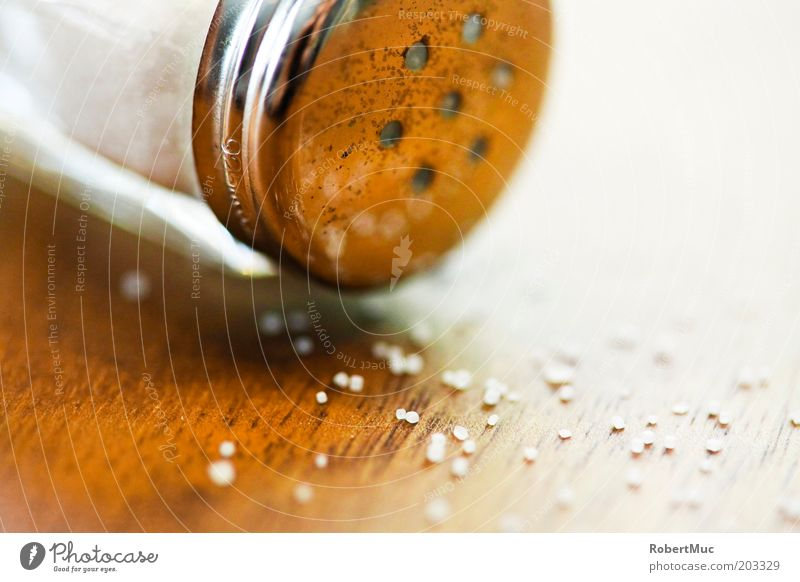 White Nutrition Wood Brown Food Table Herbs and spices Silver Macro (Extreme close-up) Salt Reflection Salt caster