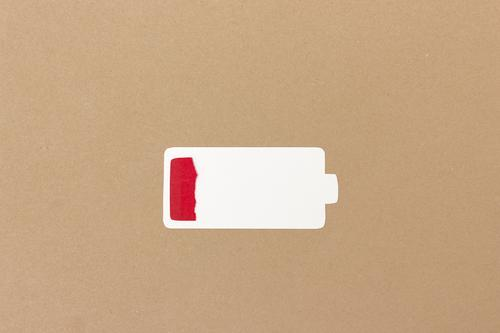 Battery empty Well-being Meditation Cellphone Technology Relaxation Fight Simple Modern Brown Fatigue Exhaustion Stress Squander Energy Fiasco Collage