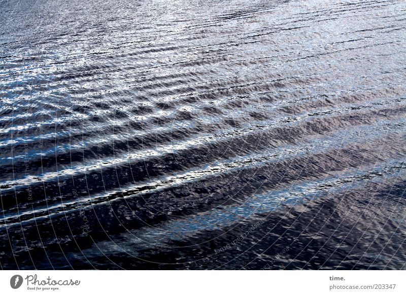 storm warning Water Waves Elements Reflection Exterior shot Blue Structures and shapes Wet Cold River Elbe Stripe Aggregate state Damp Fluid