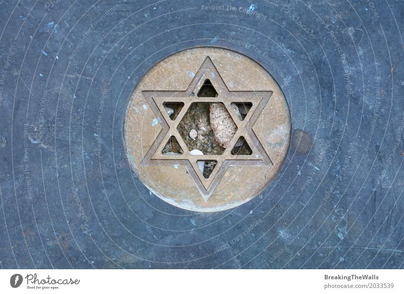 Star of David, Magen David Jewish symbol Stone Metal Old Blue Anticipation Grief Pride Peace Equal Nostalgia Symmetry Tourism Time Destruction Jewish cemetery