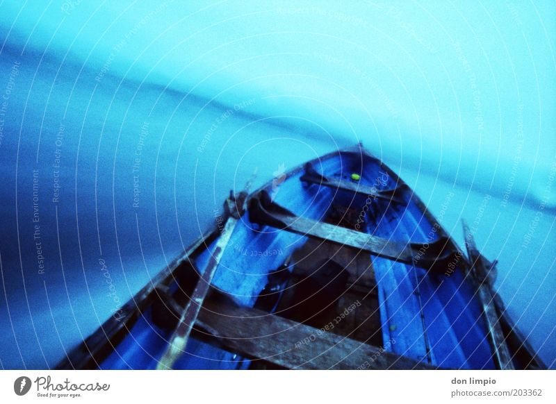 Blue Vacation & Travel Cold Movement Lake Wet Horizon Speed Trip Driving Storm Surrealism Rowboat Means of transport