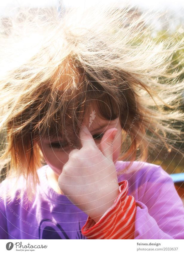 Human being Child Sun Hand Girl Life To talk Emotions Meadow Garden Hair and hairstyles Head Infancy Authentic Tall Beautiful weather
