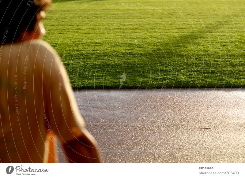 anticipation Joy Track and Field Sportsperson Sporting Complex Football pitch Stadium Racecourse Human being Masculine Young man Youth (Young adults) 1