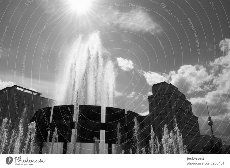 City Water Summer Sun Calm Clouds Dark Time Idyll Places Beautiful weather Round Historic Card Hot Capital city